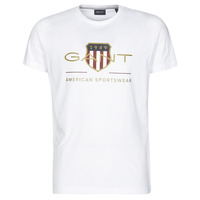 Oblečenie Muži Tričká s krátkym rukávom Gant ARCHIVE SHIELD Biela