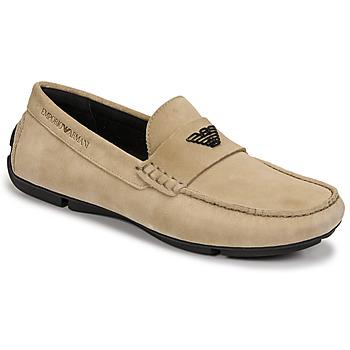 Topánky Muži Mokasíny Emporio Armani ITOLIA Béžová