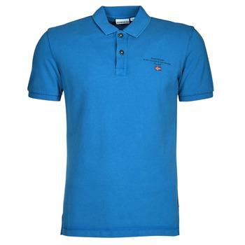 Oblečenie Muži Polokošele s krátkym rukávom Napapijri ELBAS 4 Modrá
