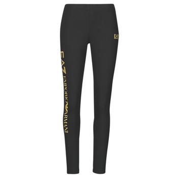 Oblečenie Ženy Legíny Emporio Armani EA7 8NTP63-TJ01Z-0200 Čierna / Zlatá