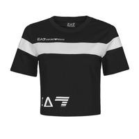 Oblečenie Ženy Tričká s krátkym rukávom Emporio Armani EA7 3KTT05-TJ9ZZ-1200 Čierna / Biela