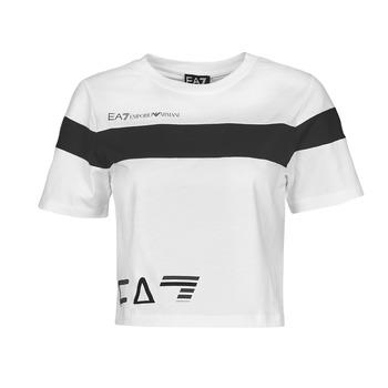 Oblečenie Ženy Tričká s krátkym rukávom Emporio Armani EA7 3KTT05-TJ9ZZ-1100 Biela / Čierna