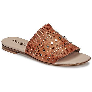 Topánky Ženy Šľapky Fru.it 6765-100-CUOIO Hnedá
