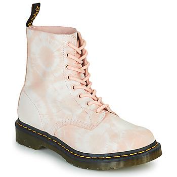 Topánky Ženy Polokozačky Dr Martens 1460 PASCAL Béžová
