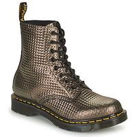Topánky Ženy Polokozačky Dr Martens 1460 PASCAL Hnedošedá / Zlatá