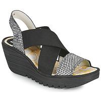 Topánky Ženy Sandále Fly London YAJI Čierna / Biela