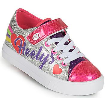 Topánky Dievčatá Kolieskové topánky Heelys SNAZZY X2 Strieborná / Viacfarebná