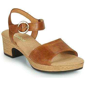 Topánky Ženy Sandále Gabor 6272153 Ťavia hnedá