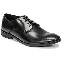 Topánky Muži Derbie Clarks STANFORD WALK Čierna