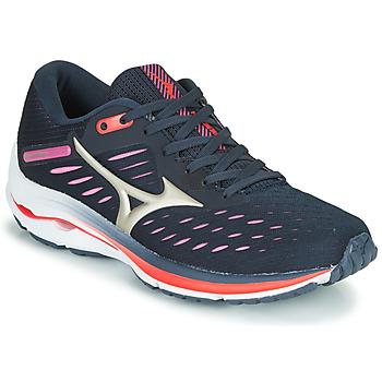 Topánky Ženy Bežecká a trailová obuv Mizuno WAVE RIDER 24 Fialová  / Ružová
