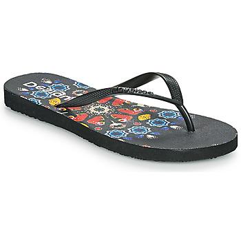 Topánky Ženy Žabky Desigual FLIP FLOP BUTTERFLY Čierna