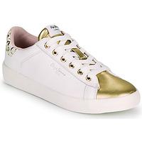Topánky Ženy Nízke tenisky Pepe jeans KIOTO FIRE Biela / Zlatá