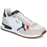 Topánky Muži Nízke tenisky Pepe jeans BRITT MAN BASIC Biela / Béžová