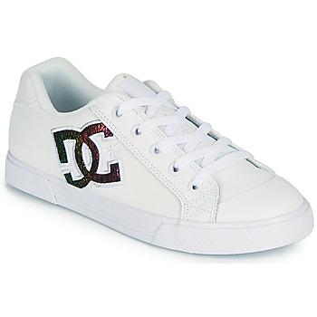 Topánky Ženy Skate obuv DC Shoes CHELSEA J Biela / Ružová