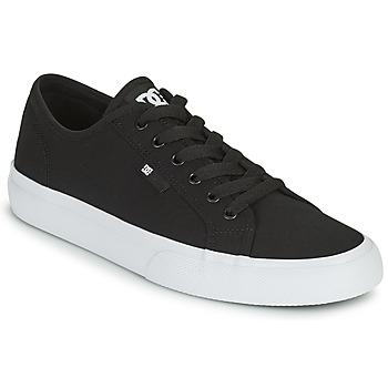 Topánky Muži Skate obuv DC Shoes MANUAL Čierna / Biela