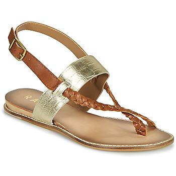 Topánky Ženy Sandále Ravel LUNA Zlatá / Ťavia hnedá