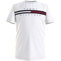 Oblečenie Chlapci Tričká s krátkym rukávom Tommy Hilfiger KB0KB06532-YBR Biela