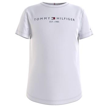 Oblečenie Dievčatá Tričká s krátkym rukávom Tommy Hilfiger KG0KG05242-YBR Biela
