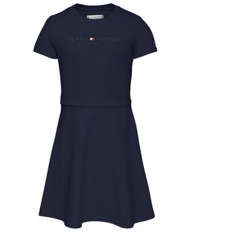 Oblečenie Dievčatá Krátke šaty Tommy Hilfiger KG0KG05789-C87 Námornícka modrá