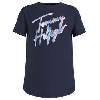 Oblečenie Dievčatá Tričká s krátkym rukávom Tommy Hilfiger KG0KG05870-C87 Námornícka modrá