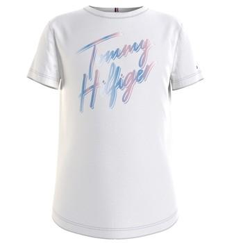 Oblečenie Dievčatá Tričká s krátkym rukávom Tommy Hilfiger KG0KG05870-YBR Biela