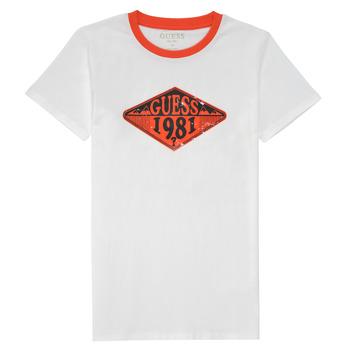 Oblečenie Chlapci Tričká s krátkym rukávom Guess L1GI09-K8HM0-TWHT Biela