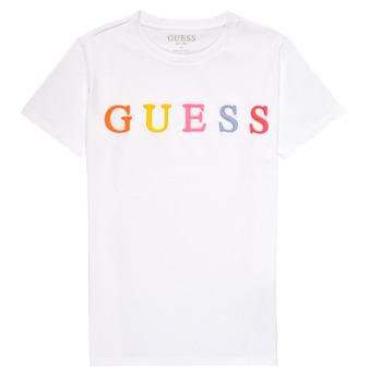 Oblečenie Dievčatá Tričká s krátkym rukávom Guess H1RJ04-K8HM0-TWHT Biela