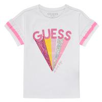 Oblečenie Dievčatá Tričká s krátkym rukávom Guess K1RI04-K6YW1-TWHT Biela