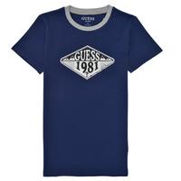 Oblečenie Chlapci Tričká s krátkym rukávom Guess L1GI09-K8HM0-DEKB Námornícka modrá