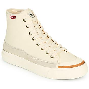 Topánky Ženy Členkové tenisky Levi's SQUARE HIGH S Biela