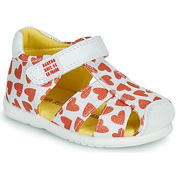 Topánky Dievčatá Sandále Agatha Ruiz de la Prada HAPPY Biela / Červená