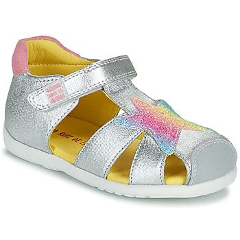 Topánky Dievčatá Sandále Agatha Ruiz de la Prada HAPPY Strieborná