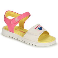 Topánky Dievčatá Sandále Agatha Ruiz de la Prada SMILEY Biela / Ružová