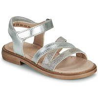 Topánky Dievčatá Sandále Aster TESSIA Strieborná