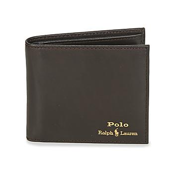 Tašky Muži Peňaženky Polo Ralph Lauren GLD FL BFC-WALLET-SMOOTH LEATHER Čierna