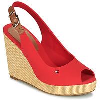 Topánky Ženy Sandále Tommy Hilfiger ICONIC ELENA SLING BACK WEDGE Oranžová