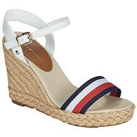 Topánky Ženy Sandále Tommy Hilfiger SHIMMERY RIBBON HIGH WEDGE Biela