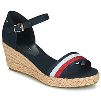 Topánky Ženy Sandále Tommy Hilfiger SHIMMERY RIBBON MID WEDGE SANDAL Námornícka modrá