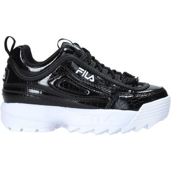 Topánky Deti Módne tenisky Fila 1011081 čierna