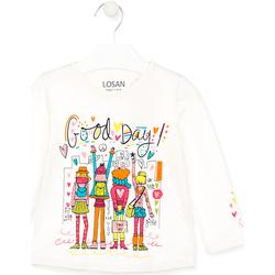 Oblečenie Deti Tričká a polokošele Losan 026-1003AL Biely