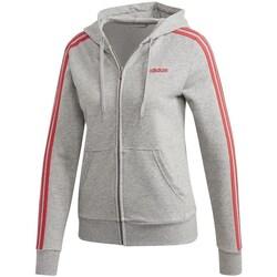 Oblečenie Ženy Mikiny adidas Originals Essentials 3S Full Zip Hoodie Sivá