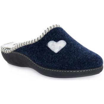 Topánky Ženy Papuče Emanuela 1800 BLU PANTOFOLA Blu