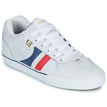 Topánky Muži Nízke tenisky Globe ENCORE-2 Biela / Modrá / Červená