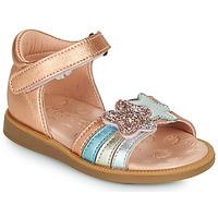 Topánky Dievčatá Sandále Acebo's 1228-RAME Bronzová