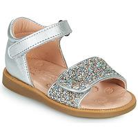 Topánky Dievčatá Sandále Acebo's 1232-PLATA Strieborná