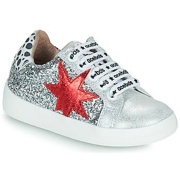 Topánky Dievčatá Nízke tenisky Acebo's 5461GL-PLATA-J Strieborná