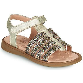 Topánky Dievčatá Sandále Acebo's 5498GE-PLATINO-J Zlatá