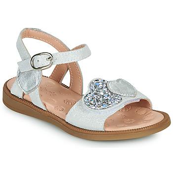 Topánky Dievčatá Sandále Acebo's 5500SU-BLANCO Biela / Strieborná