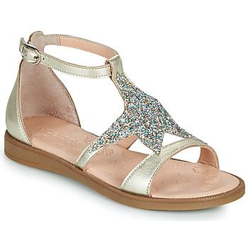 Topánky Dievčatá Sandále Acebo's 9895GE-PLATINO-J Zlatá