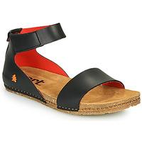 Topánky Ženy Sandále Art CRETA Čierna / Červená